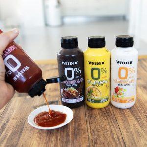 salsas cero weider 4 sabores disponibles