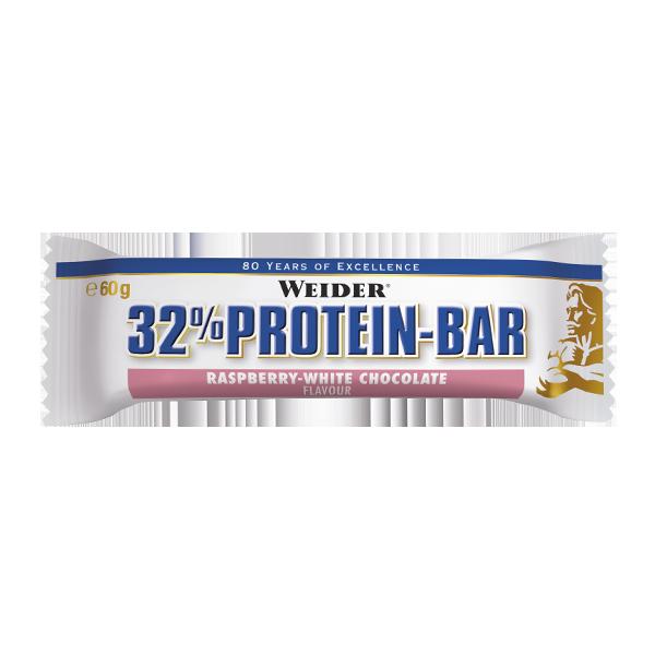 barrita de proteina frambuesa y chocolate blanco