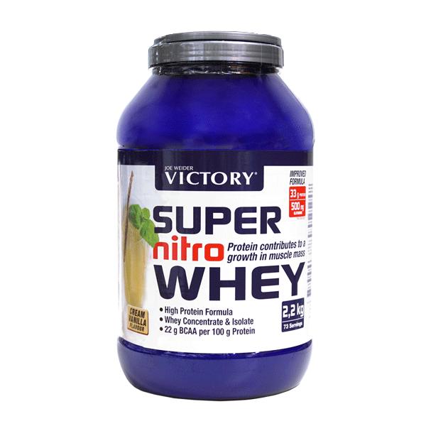 suplemento super nitro whey de Vainilla