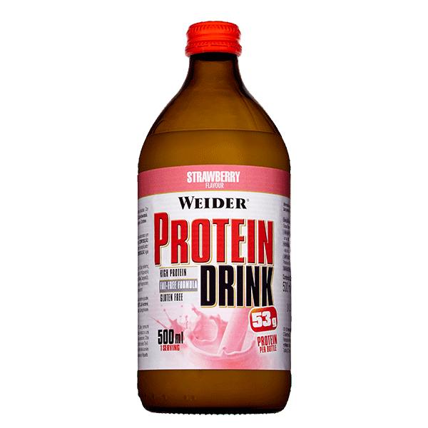 bebida proteina fresa